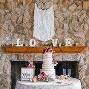 Dream Catcher Wedding Cake Table