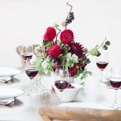 Fall Flavors for a Winery Wedding in Burgundy and White