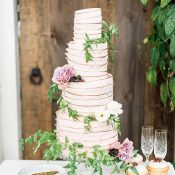 Cafe Latte Rose Wedding Cake