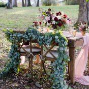 Rustic Sweetheart Table Draped in Greenery