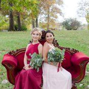 Garnet and Greenery Bridesmaid Inspiration