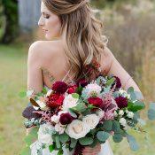 Garnet and Greenery Bridal Bouquet