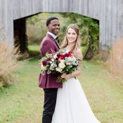 Chic Rustic Wedding with Black Tie Style