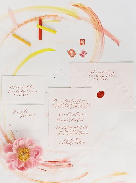 Modern Colorful Invitation Suite