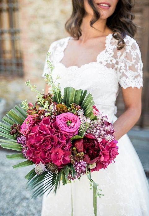 Modern Structural Pink Bouquet