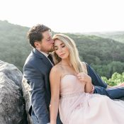 Elegant Sunrise Engagement Shoot on top of a Mountain