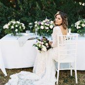 Vintage Garden Wedding Reception