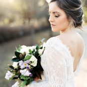 Romantic Goddess by Nature Wedding Dress with Long Lace Sleeves