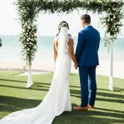 Romantic Beach Side Wedding Blessing Ceremony