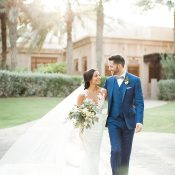 Sun Drenched Magic Hour Wedding Photos in Dubai