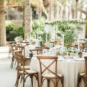 Neutral Tuscan Inspired Wedding with Neutrals and Greenery