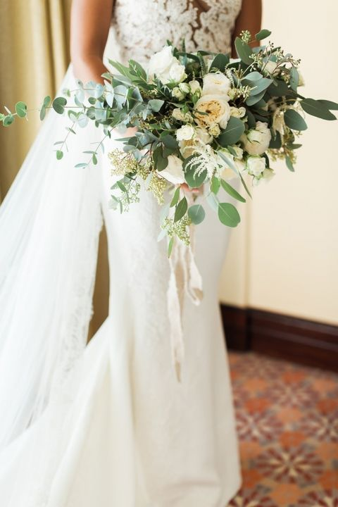 Greenery Bouquet with White Roses