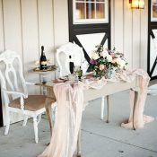 Romantic Barn Wedding with a Vintage Sweetheart Table