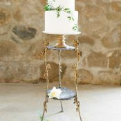 Petite Cake with Vintage Gold Decor
