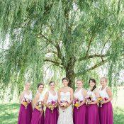 Bridesmaids in Colorful Separates