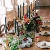Jewel Tone Organic Wedding Decor