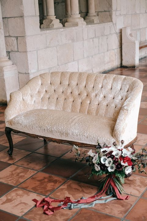 Luxe Gold and Burgundy Vintage Wedding