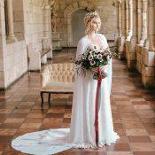 Bridal Cape for a Regal Wedding Look