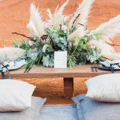 Organic Pillows for a Modern Bohemian Sweetheart Table