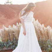 Magic Hour Bohemian Desert Wedding with Pampas Grass and Greenery