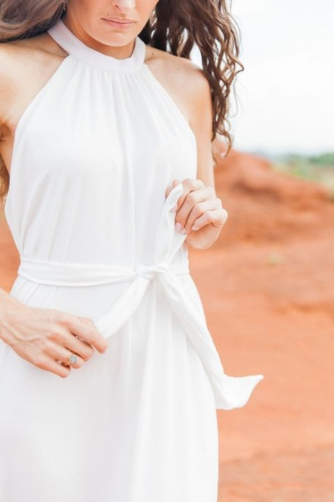Airy Chiffon Halter Neck Dress