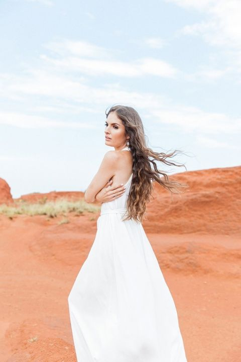 Ethereal Wedding Photos in the Red Desert