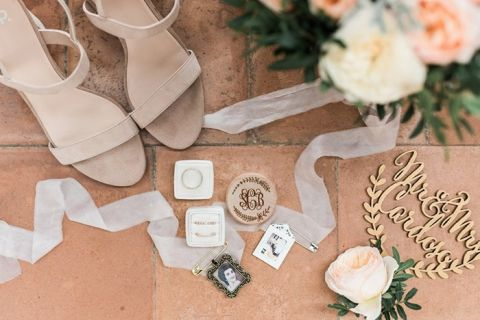 Romantic Heirloom Wedding Details with the Bride's Accessories