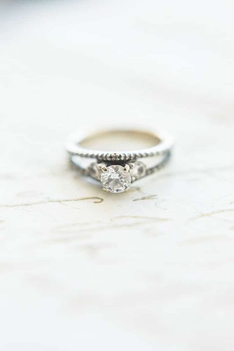 Romantic Double Band Engagement Ring