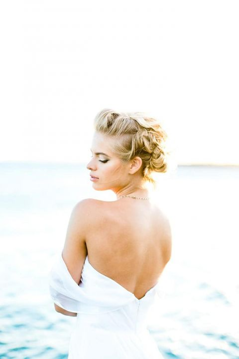 Glowing Hawaiian Bride with a Romantic Updo