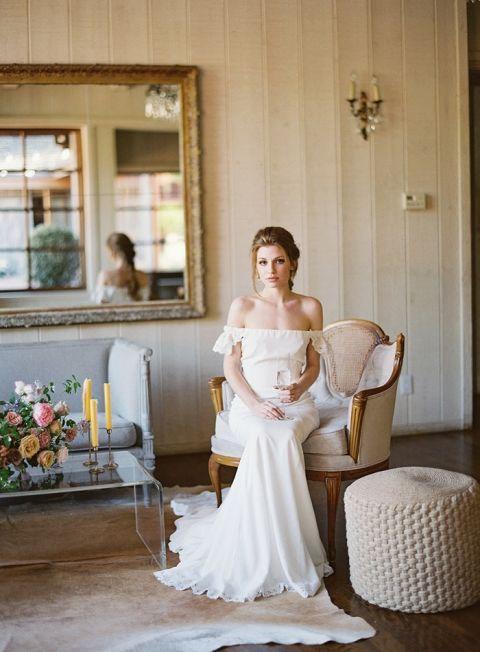 Vintage Lounge Decor for an Elegant Ranch Wedding