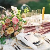 Colorful Luxe Organic Wedding Decor