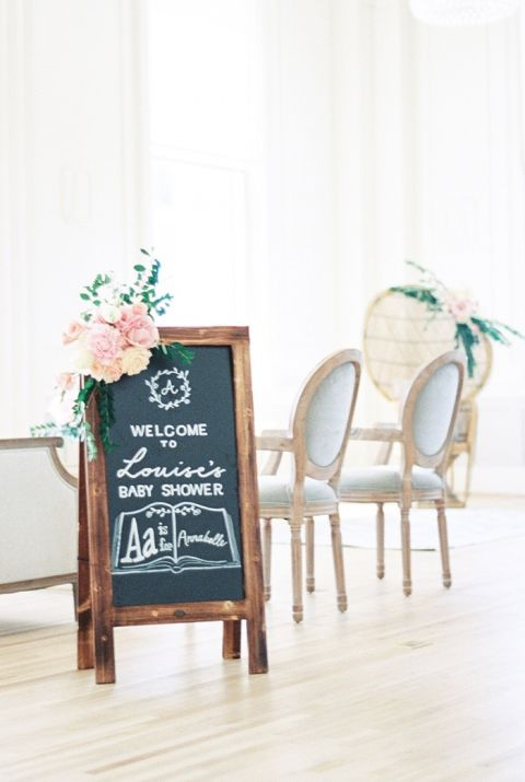 Adorable Hand Lettered Chalkboard Sign