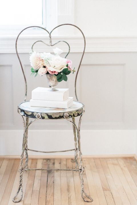 Vintage Chair with Sweet Blush Floral Details