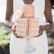 Rose Gold Sea Shell Wedding Cake