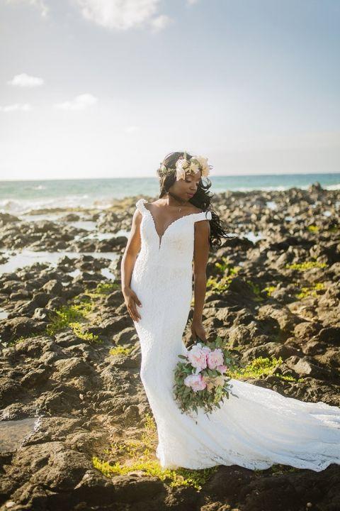 Romantic Lace Off the Shoulder Wedding Dress