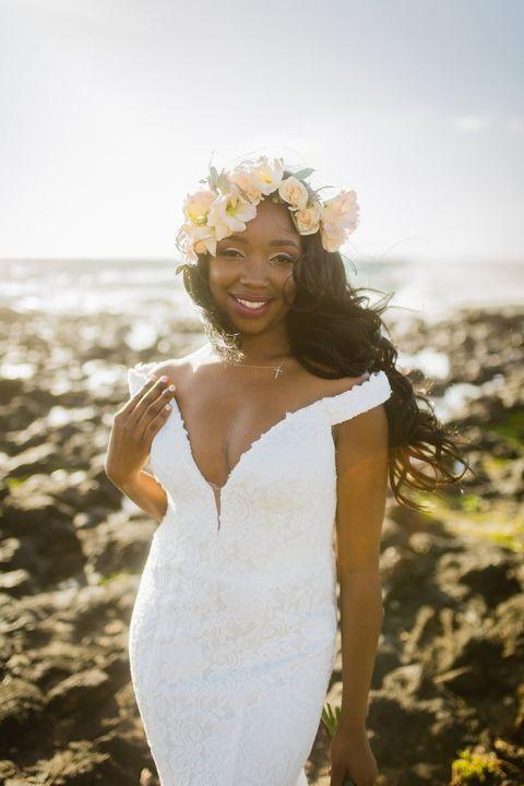 Breathtaking Beach Bride in Hawaii