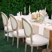 Romantic Farm Table Decor for a Vintage Inspired Winery Wedding
