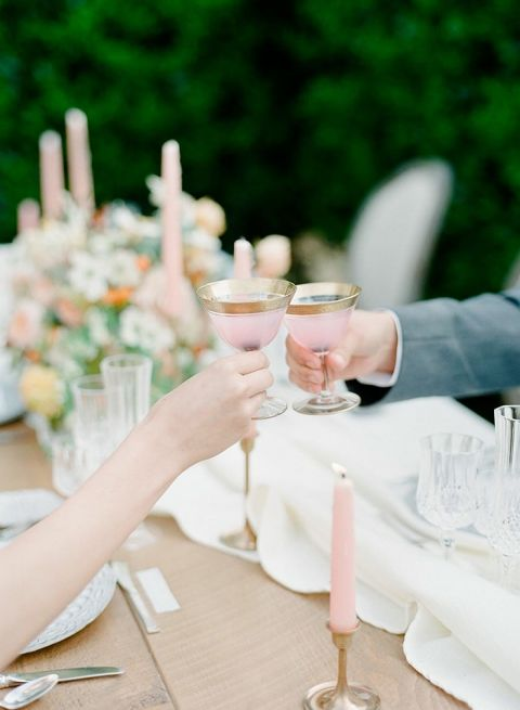 Roses In Garden: Modern Wedding Colors With Vintage Wine Country Style