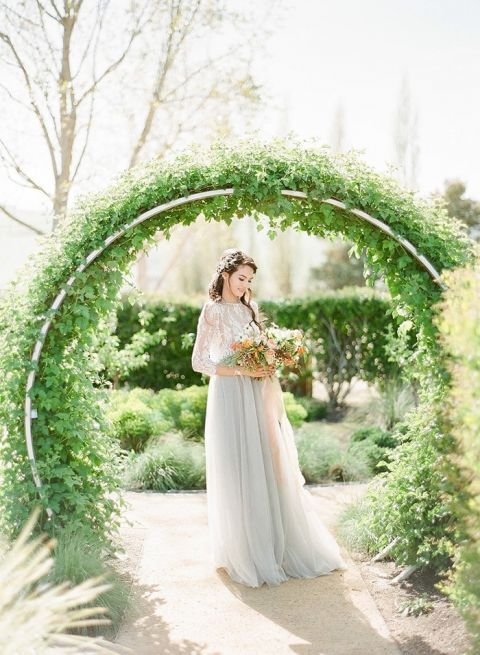 Vintage Bohemian Winery Wedding with a Ceremony Ring