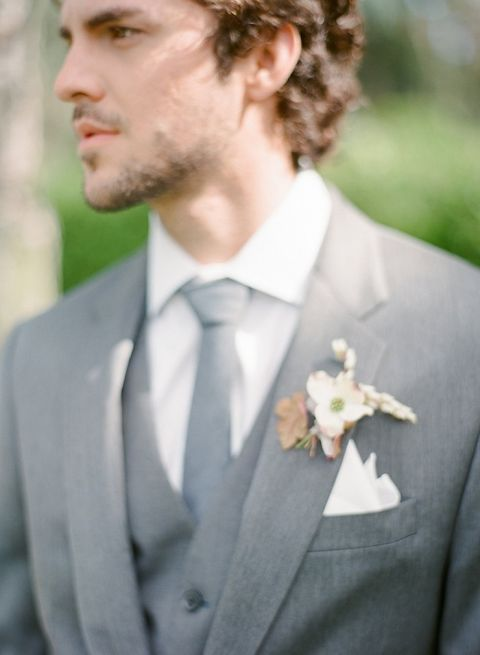 Gray Three Piece Suit For A Stylish Groom