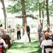 Elegant Rustic Wedding Ceremony Arbor with Vintage Doors