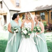 Mint Green Bridesmaid Dresses for a Timeless Modern Winery Wedding