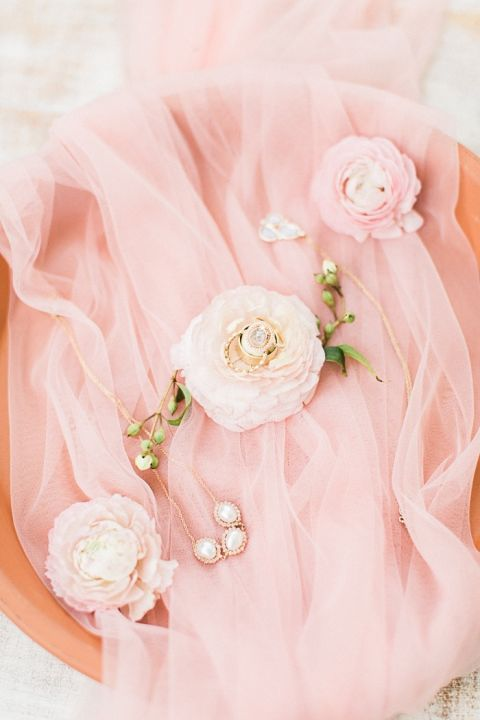 Peach and Terra Cotta Bridal Accessory Styling