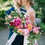 Oversized Pink Bouquet with Summer Greenery