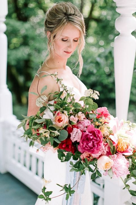 Romantic Pink Spring Bridal Bouquet