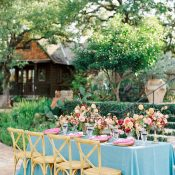 Colorful Southwestern Wedding Reception with European Style