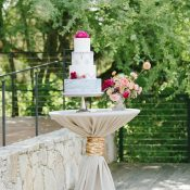 Modern Gold Sequin Wedding Cake Table