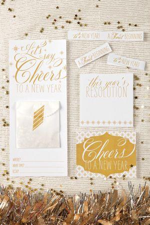 Modern Gold Confetti Wedding Invitations