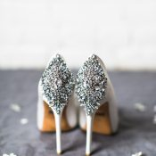 Crystal Embellished Heels for a Dose of Wedding Day Glam