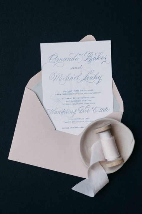 Neutral Stationery Design with Hand Lettered Invitations